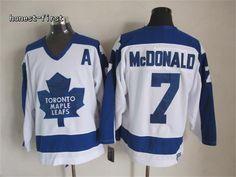 Toronto Maple Leafs #7 Tim Horton White CCM Vintage Throwback
