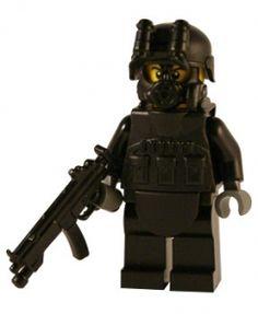 Security Forces - Custom Lego SWAT Figure