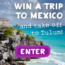 Take off to Tulum to explore Mayan Ruins and the hottest food destination south of the border. Package includes: Airfare for 2, 3-night hotel stay, $500 and a Tasting Table dining guide. Enter now: http://www.tastingtable.com/tulum