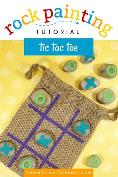 Tic Tac Toe is a super fun game that kids and kids at heart love. Make it more engaging with this colourful DIY Painted Rock Stones. Materials needed are recyclable and the instruction on how to do it is extremely easy. Try this DIY project today! #paintedrocksfortictactoe #rocktictactoediy #diy #rockpainting Cute Kids Crafts, Simple Crafts, Creative Crafts, Super Fun Games, Painted Rocks Craft, Fun Activities For Kids, Family Activities, Diy Painting, Rock Painting