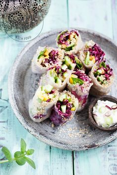 ... mango quinoa summer rolls with cashew lemon dip sauce ...
