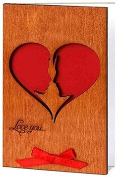 Handmade Real Wood Card Love You He and She Soulmates as a Big Heart Unique Gift Idea for Wooden Wedding Dating Anniversary or Best Thinking of You Card for Him or Her Diy Birthday Man, Birthday Surprise For Girlfriend, Girlfriend Anniversary Gifts, Birthday Card Design, Birthday Gift For Him, Birthday Crafts, Dating Anniversary, Happy Birthday, Birthday Ideas