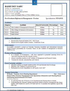 Fresher Resume Format For Mca Best Resume Format For Freshers