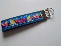 New Handcrafted Alice in Wonderland Inspired Key Fob Wristlet Keychain Lanyard  #Unbranded