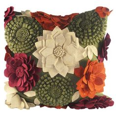 I pinned this Felt Fall Pillow from the Design Accents event at Joss & Main!