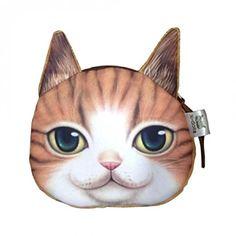 Flauschiger Kindergeldbeutel / Kinderportemonnaie mit süßem Katzenmotiv inkl. Katzenohren (Reissverschluss) (Dunkelgrau): Amazon.de: Koffer, Rucksäcke & Taschen