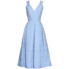Erdem Fabrizia cloqué pleated dress ($2,454) ❤ liked on Polyvore featuring dresses, light blue, floral pleated dress, floral dress, flower pattern dress, blue floral print dress and floral printed dress