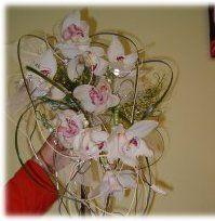 boeket met witte orchideeën