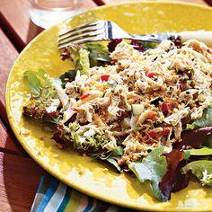 Maryland Crab Cake Salad - 30 Healthy Summer Salads - Coastal Living