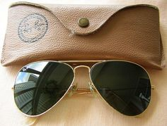 Green Aviator Ray Ban Sunglasses.