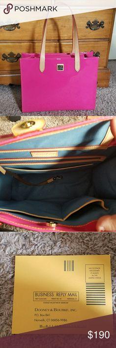 NWOT  Rare Pink Dooney & Bourke Eva Large Shopper *** NOT ELIGIBLE FOR BUNDLE DISCOUNT*** NWOT  Pink Dooney & Bourke Eva Large Shopper  NWOT!  GORGEOUS!  Dooney & Bourke Bags Shoulder Bags