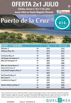 Oferta 2x1 Julio Pto de la Cruz desde 414€ Tasas incluidas. Salidas desde Vigo ultimo minuto - http://zocotours.com/oferta-2x1-julio-pto-de-la-cruz-desde-414e-tasas-incluidas-salidas-desde-vigo-ultimo-minuto/