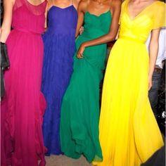 Gorgeous dresses good idea for summer bridesmaids :)