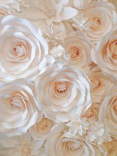 Telón de fondo gran papel flores telón de por MoniquePaperArt