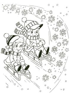 Winter season coloring pages for kids Sports Coloring Pages, Colouring Pages, Adult Coloring Pages, Coloring Pages For Kids, Coloring Books, Winter Colors, Winter Fun, Winter Theme, Winter Season
