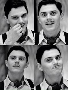 Evan Peters as Mr. James March HNGGGG Reminds me of Raul Julia as Gomez Addams.