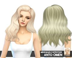 Hair retextures updated to 64 colors at Miss Paraply via Sims 4 Updates Medium Hair Styles, Long Hair Styles, Sims Hair, Sims 4 Update, The Sims4, Sims Cc, Youtube, Hairstyle, Guys