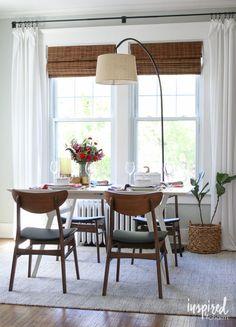 Stylish Budget Window Treatments Dining Room Bay