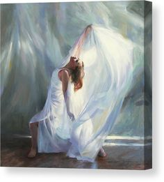"""Outpouring,"" inches, oil on linen. Original fine art oil painting by Anna Rose Bain. Ballet Painting, Dance Paintings, Art Prophétique, Fine Art Amerika, Worship Dance, Bride Of Christ, Prophetic Art, Jesus Art, Dance Art"