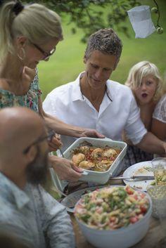 Pastasalat med reker og ostesaus Food, Meals, Yemek, Eten