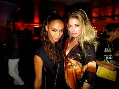 Joan Smalls and Doutzen Kroes at the Givenchy after-party.