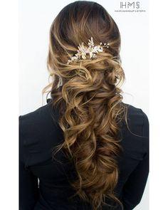 long hair wedding hair