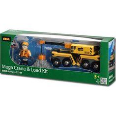 Brio 33734 Megacrane & Load Kit For Wooden Train Set