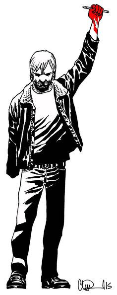 thewalkingdeadcomics:  The Walking Dead artist Charlie Adlard created this tribute forThe Hollywood Reporter's Tribute to the tragedy at Charlie Hebdo.