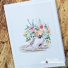 We are here to kick off your weekend with inspiration to break out your stamp collection and get inky! Watercolor Cards, Watercolor Paintings, Watercolor Ideas, Art Impressions Stamps, Summer Painting, Winter Kids, Instagram Blog, Flower Shape, Flower Cards