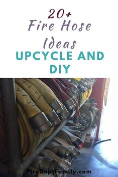 Do a solid for the environment and check out these up cycled things you can do with firehose! From decorations to fun gifts, fire hose gets a second chance at life. Firefighter Training, Firefighter Family, Firefighter Gifts, Volunteer Firefighter, Fire Hose Projects, Fire Hose Crafts, Fire Dept, Fire Department, Leather Crafts