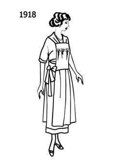 104 best dress sketches images 1920s dress sketches 1940s Dresses 1918 dress sketches outfit of the day day dresses 1920s period