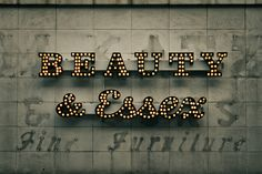 beauty & essex sign / vintage / via onesevenone, flickr