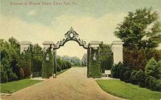 Main entrance to Lynnewood Hall