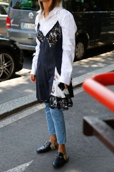 Street style denim.  Think outside the box!!  FOR ONCE!!!!