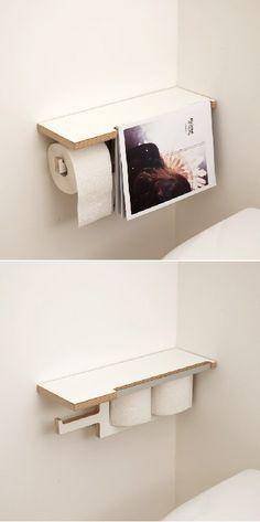 非常实用的小家具,toilet paper holder,designed by Florian Gilges.