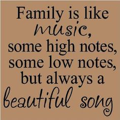 Positive Inspirational Quotes: Family is like music ...