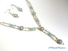 Beadweave Jewelry Set full of Victorian Charm by ARexrodeCreations
