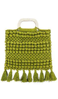 Shop for Cleobella Thalia Tote in Citron at REVOLVE. Crochet Handbags, Crochet Purses, Crochet Bags, Raffia Crafts, Spring Purses, Diy Handbag, Produce Bags, Macrame Bag, Casual Bags