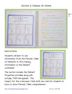 SCIENCE INTERACTIVE NOTEBOOK - ATOMS AND THE PERIODIC TABLE OF ELEMENTS - TeachersPayTeachers.com