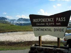12,095 Independence Pass, CO lies between Aspen and Twin Lakes. CO, and is only open in the summer.