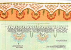 colored borders to decorate curtains, paths table, bath towel