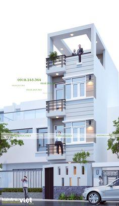 Flat House Design, House Outer Design, Narrow House Designs, Modern Small House Design, Small House Exteriors, Modern House Facades, Classic House Design, Bungalow House Design, House Front Design