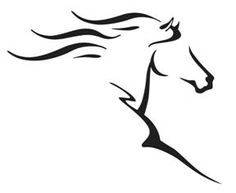 Abstract horse in motion logo - Love this