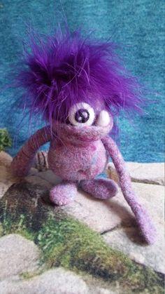 Monster Toy Needle Felted Wool Monster Handmade Monster Soft