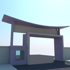 Gate Wall Design, 3d Model Architecture, Entrance Gates, Urban Design, Gazebo, Outdoor Structures, Doors, Interior, Landscaping