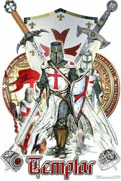Many believe that the Knights Templar were absorbed into Scottish Rite Freemasonry Knight In Shining Armor, Knight Armor, The Knight, Samurai, Rose Croix, Crusader Knight, Christian Warrior, Empire Romain, Armadura Medieval