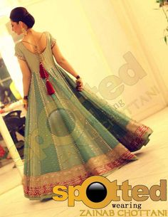 full skirted dress, back ties, Zainab Chottani