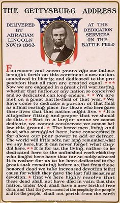 The Gettysburg Address Delivered by Abraham Lincoln Nov. 19 1863 by allhistory History 'The Gettysburg Address Delivered by Abraham Lincoln Nov. 19 Poster by allhistory American Presidents, Us Presidents, American Civil War, Captain American, Early American, Native American, Republican Presidents, Bill Of Rights, History Facts