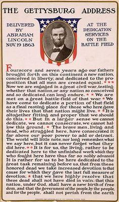 abraham lincoln gettysburg address images | Bill of Rights Institute: Abraham Lincoln's Gettysburg Address ...Nov. 19, 1863.