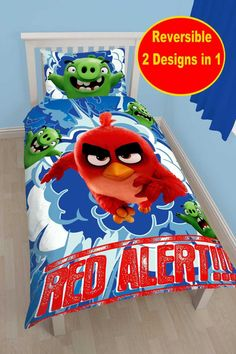 Angry Birds MOVIE RED Single PANEL Duvet stamp